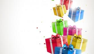 10 pacchetti regalo – birthday gift with confetti