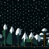 9 alberi innevati – flat snowed trees