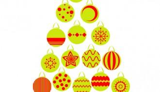 albero Natale di palline – Christmas balls tree