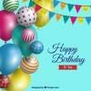 compleanno palloncini – happy birthday with realistic balloons
