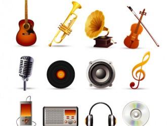 musica, strumenti musicali – music set