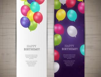 2 banner palloncini – balloons