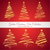 6 alberi di Natale dorati – golden Christmas trees
