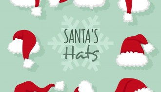8 cappelli Babbo Natale – Christmas hats