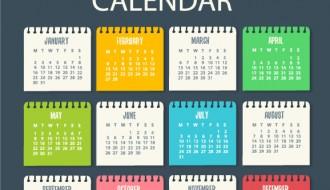calendario, calendar 2017