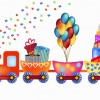 trenino compleanno torta palloncini – birthday cartoon train