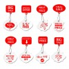 8 etichette saldi – red and white sales tags