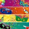 banner maschere Carnevale – Carnival mask banner