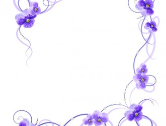 decorazione violette – violet flower with corner decor