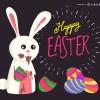 Buona Pasqua coniglio uova di cioccolata – Happy Easter