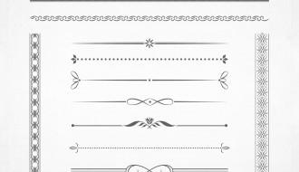 13 bordi – calligraphic borders