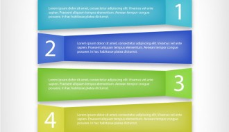 banner colorati infografica – coloured infographic banners