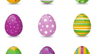 9 uova di Pasqua – 9 Easter colored eggs