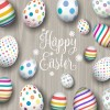 uova Pasqua sfondo legno – Easter eggs wood background