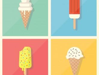 4 gelati – ice creams