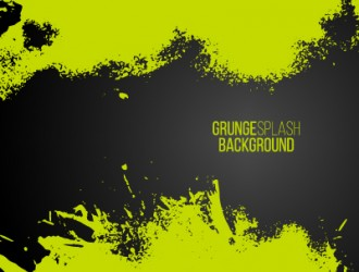 sfondo verde grunge – green paint splash frame background