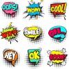 9 nuvolette fumetto parola suono – speech bubbles