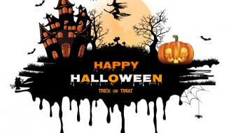 sfondo Halloween castello nero – Halloween black castle background