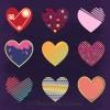 9 cuori San Valentino – set of cute hearts