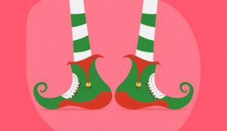 auguri Natale elfo – Christmas elf greeting card