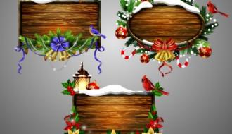 cornici legno Natale creative Christmas wooden frame