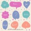 9 speech bubbles – nuvolette fumetto