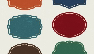 6 etichette vintage – vintage labels set