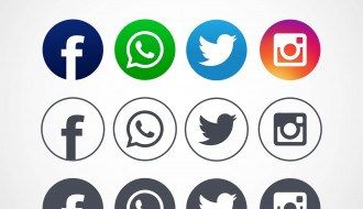 12 icone social – facebook, instagram, whatsapp, twitter