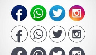 12 icone social – facebook, instagram, whatsapp, twitter