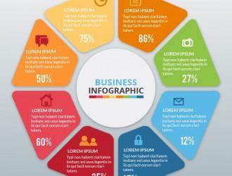 business circle infographic – infografica rotonda