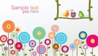 fiori e uccelli colorati – colorful birds and flowers