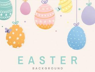 sfondo Pasqua uova farfalle – Easter background eggs butterflies