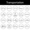 20 icone mezzi di trasporto – transportation icons