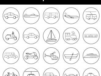 20 icone mezzi di trasporto – transportation icons