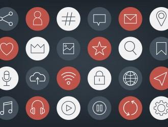 24 icone social media – icons