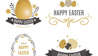 4 decorazioni Pasqua – Easter badge