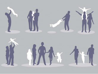sagome di famiglie – family silhouette