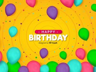 sfondo palloncini colorati compleanno – birthday ballons