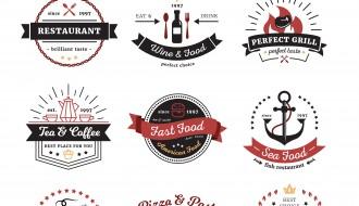 9 loghi ristoranti – cafè and restaurant logos