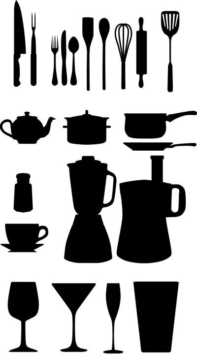 Utensili da cucina vettoriali free vectors for Appendi utensili da cucina