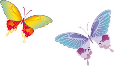 Farfalle butterflies vettoriali free vectors for Sfondi farfalle gratis