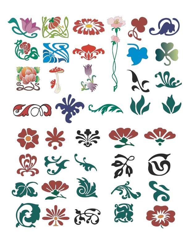 Decorazioni floreali floral ornaments vettoriali gratis it quotes