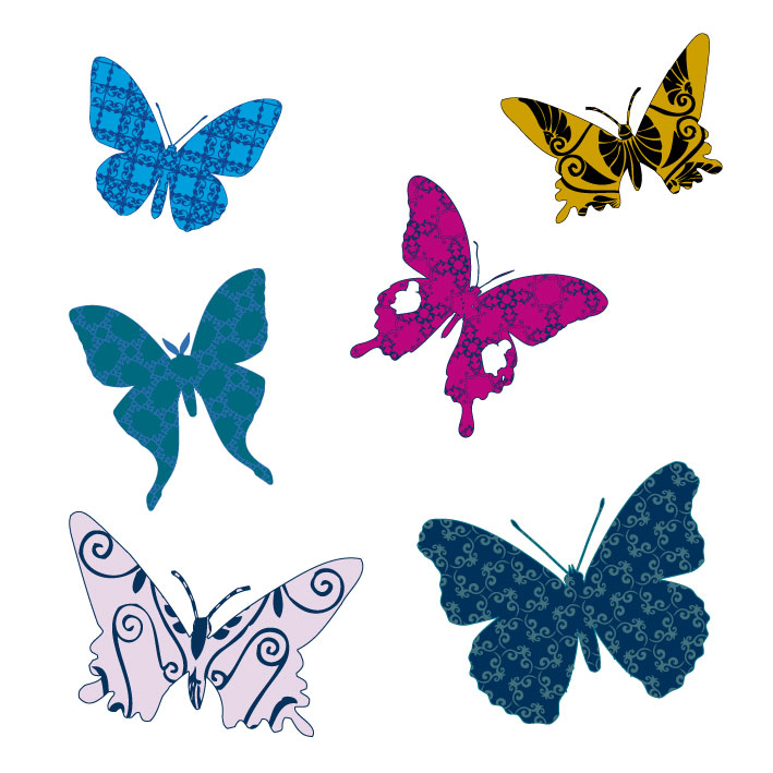 Farfalle butterflies 1 vettoriali free vectors for Sfondi farfalle gratis