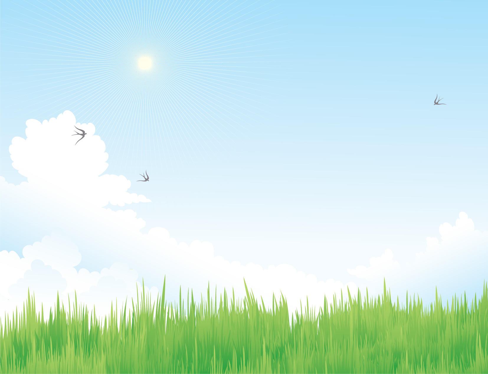 Cielo con erba – Sky with grass | Vettoriali Gratis.it (Free ...