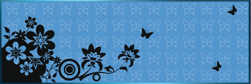 Sfondo con farfalle e fiori batterfly and floral for Sfondi farfalle gratis