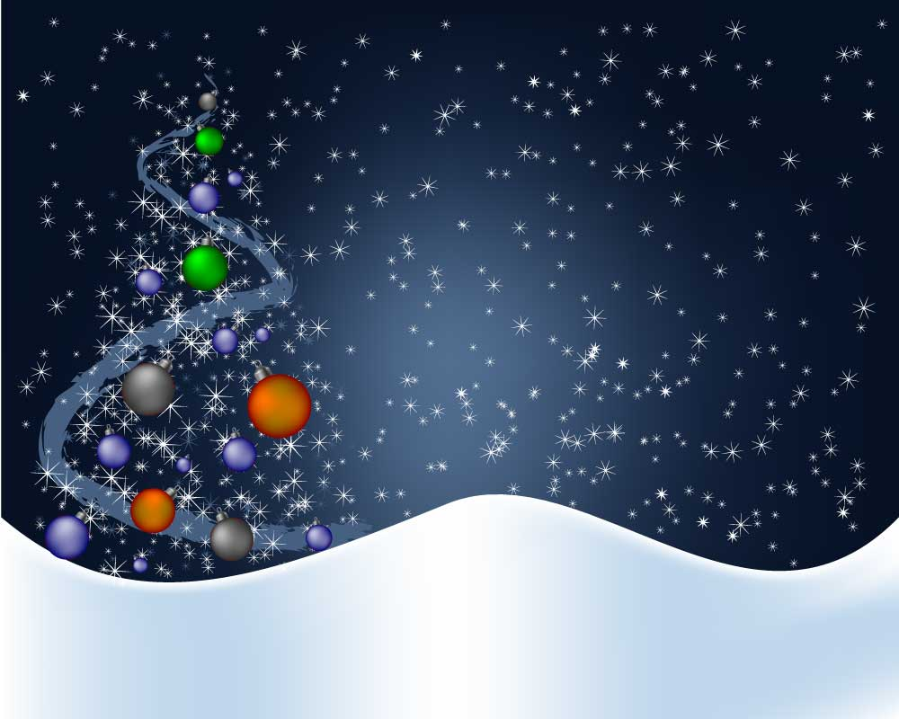Sfondo natalizio christmas background vettoriali for Desktop animati gratis