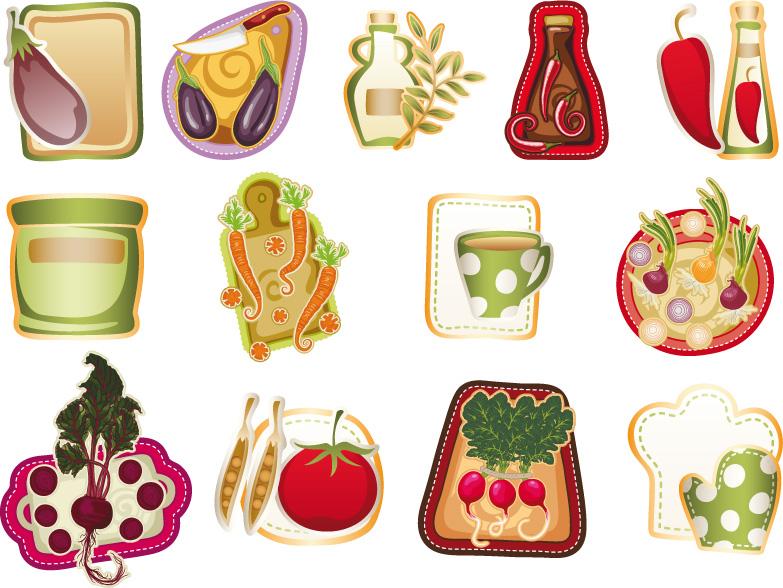 Oggetti cucina kitchen set vettoriali free for Sito per regalare oggetti