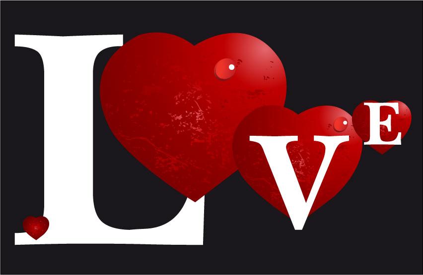 Popolare love con cuori – love with hearts | Vettoriali Gratis.it (Free  SA49