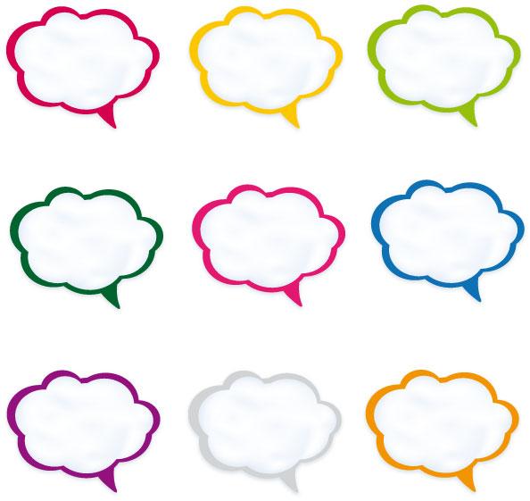 Nuvolette fumetti speech bubbles 1 vettoriali gratis it free