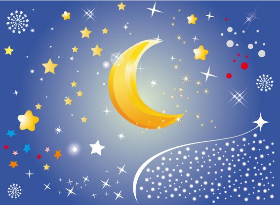 Stelle e luna stars and moon vettoriali gratis it free vectors